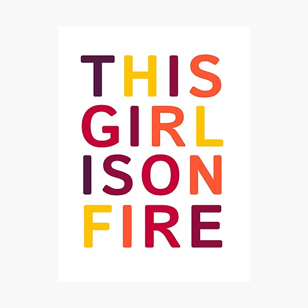 This girl is on fire. Photographic Print