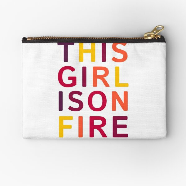 This girl is on fire. Zipper Pouch