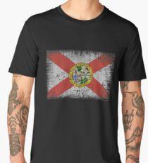 Florida Flag. Distressed. Retro, Vintage Men's Premium T-Shirt