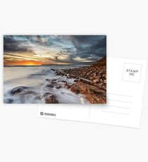 Compton Bay Sunset Isle Of Wight Postcards