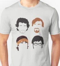 Flug der Conchords Silly-ettes: 4-up Unisex T-Shirt