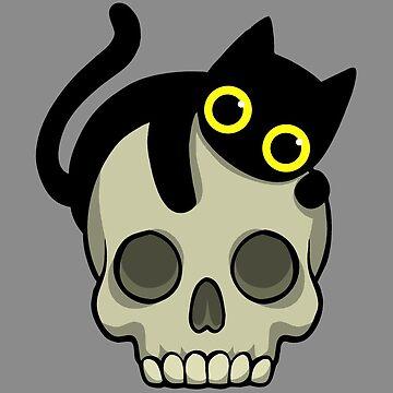 Skull Cat by WildSally
