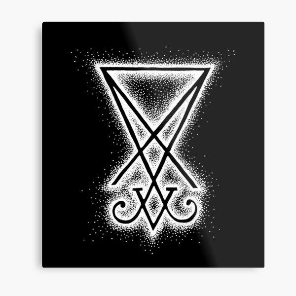 Sigil Of Lucifer - White Metal Print