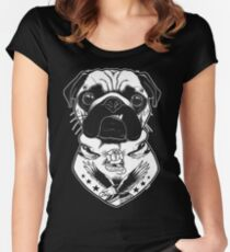 Tattooed Dog - Pug Women's Fitted Scoop T-Shirt