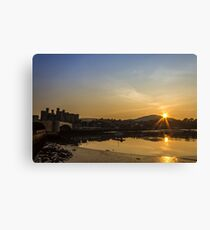 Sunset from the harbour Canvas Print