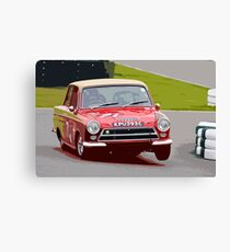 Lotus Cortina at Goodwood Canvas Print