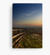 Misty sunset from Rivington Canvas Print