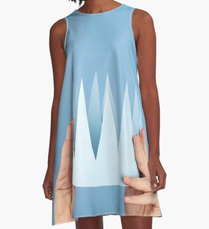 Krönungstag A-Linien Kleid