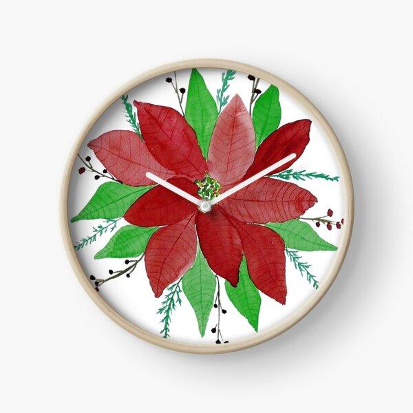 Merry Christmas Card  Clock
