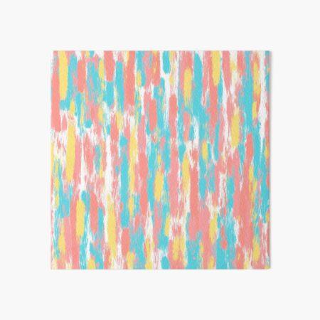 Peach and Aqua Oil Paint Stripes Art Board Print