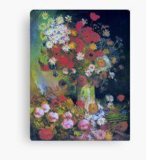Vintage Vincent Van Gogh Poppies,Peonies Chrysanthemums Fine Art Canvas Print