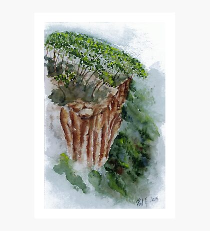 Blencoe Creek Falls Headland - North Queensland Photographic Print