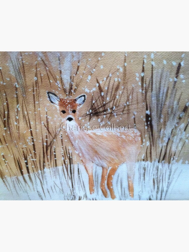 Deer in the Snow by charissecolbert