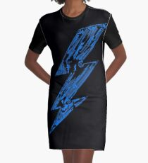 THUNDER FLASH Graphic T-Shirt Dress