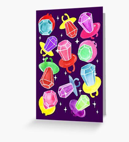 Ring Pop Cosmic Sparkle - Purple Greeting Card
