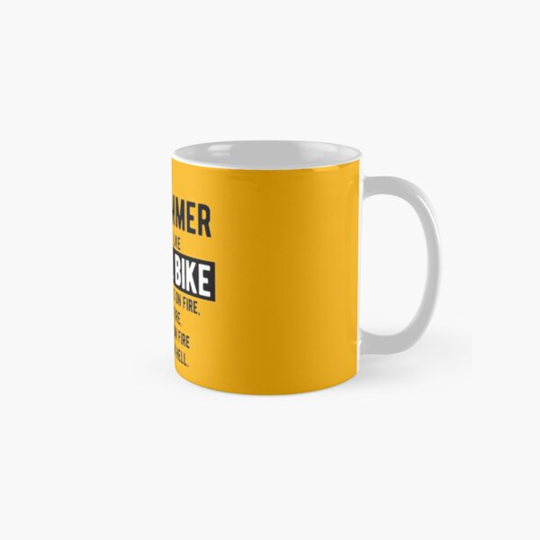 Being a programmer is easy. It's like riding a bike - Funny Programming Jokes - Light Color Classic Mug