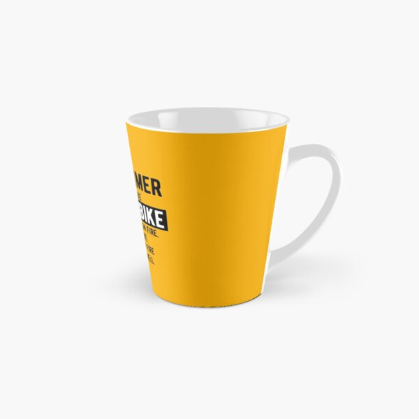 Being a programmer is easy. It's like riding a bike - Funny Programming Jokes - Light Color Tall Mug
