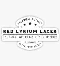Dragon Age Red Lyrium Lager Sticker