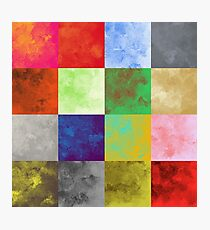 PATCHWORK, WATER COLOUR, PATTERN, SWATCH, PALETTE,  Photographic Print