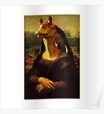 Jar Jar Binks - Mona Binks : Inspired by Star Wars Poster