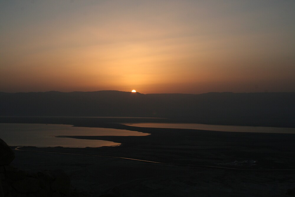 Sunrise from Masada - Dead Sea - Israel by Ilan Cohen