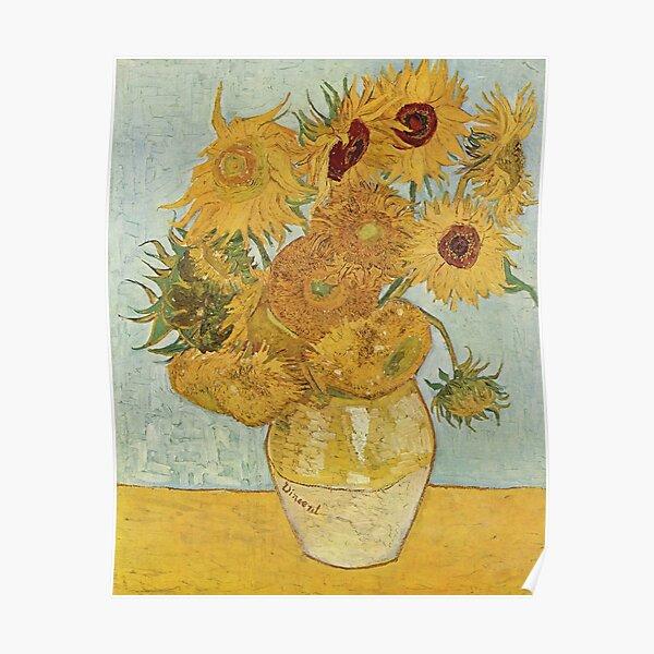 Vintage Vincent Van Gogh Sunflowers 1886 Fine Art Poster