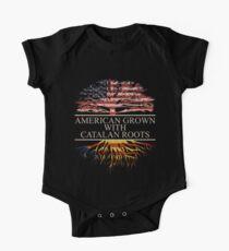 Body de manga corta para bebé Americano cultivado con raíces catalanas