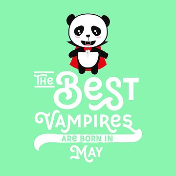 Panda Vampire born in May bear-Design by ilovecotton