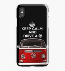 KEEP CALM and DRIVE a VW iPhone Case/Skin