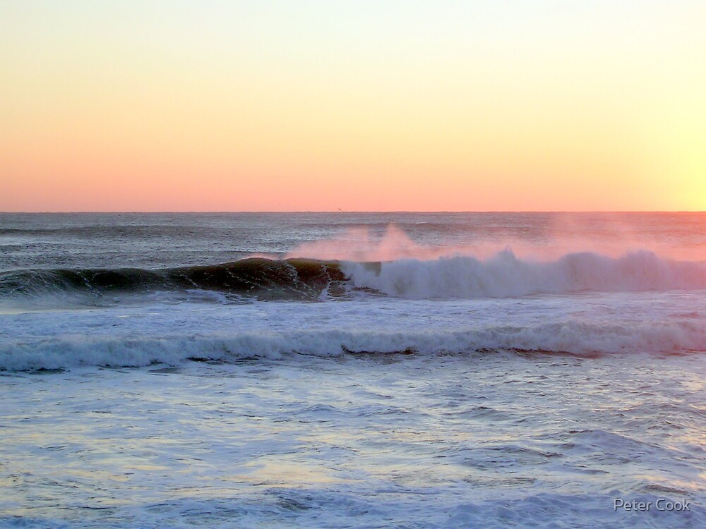 breaking surf by Peter Cook