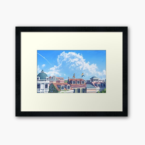 The last day of summer Framed Art Print
