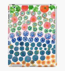 Playful Green Stars and Colorful Circles Pattern  iPad Case/Skin