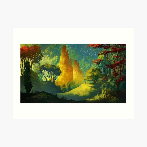 Wandering in the forest Art Print