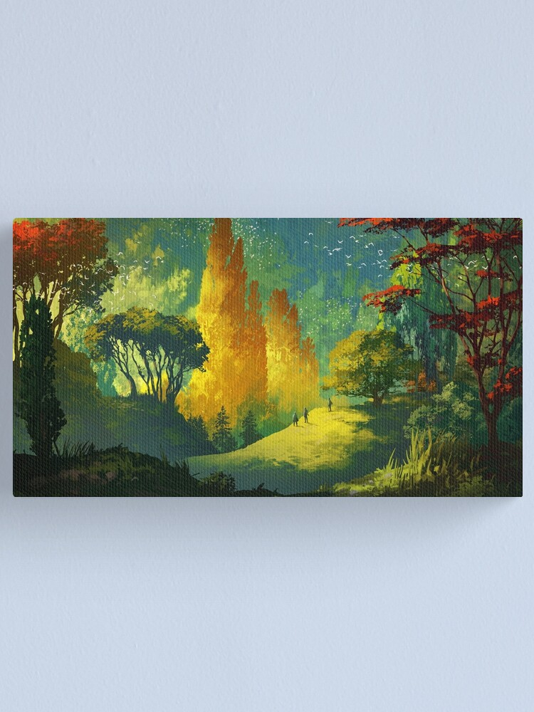 Alternate view of Wandering in the forest Canvas Print