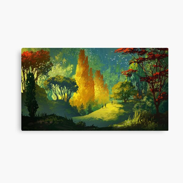 Wandering in the forest Canvas Print