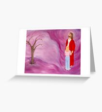 JESUS IN THE TORNADO OF LIFE ORIGINAL OIL PAINTING Greeting Card