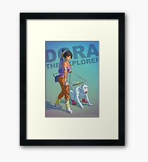 Dora the explorer BADASS Framed Print