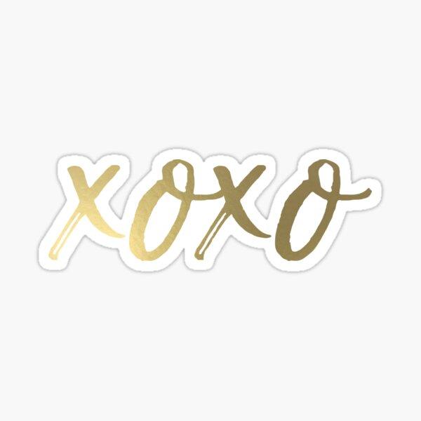 XOXO - GOLD Sticker