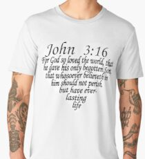 JOHN 3:16 - HEART SHAPE Men's Premium T-Shirt