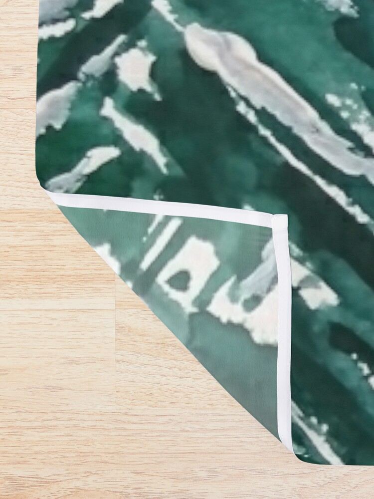 Alternate view of snowy pine forest green  Shower Curtain