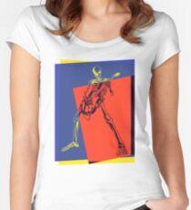 Pop Art Skeleton Rocker Women's Fitted Scoop T-Shirt