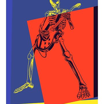 Pop Art Skeleton Rocker by retrorebirth