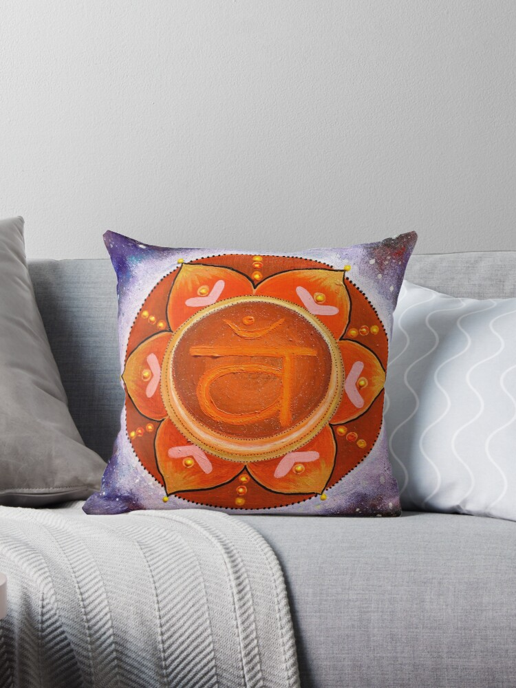 Sacral Chakra Mandala Painting  by shashira