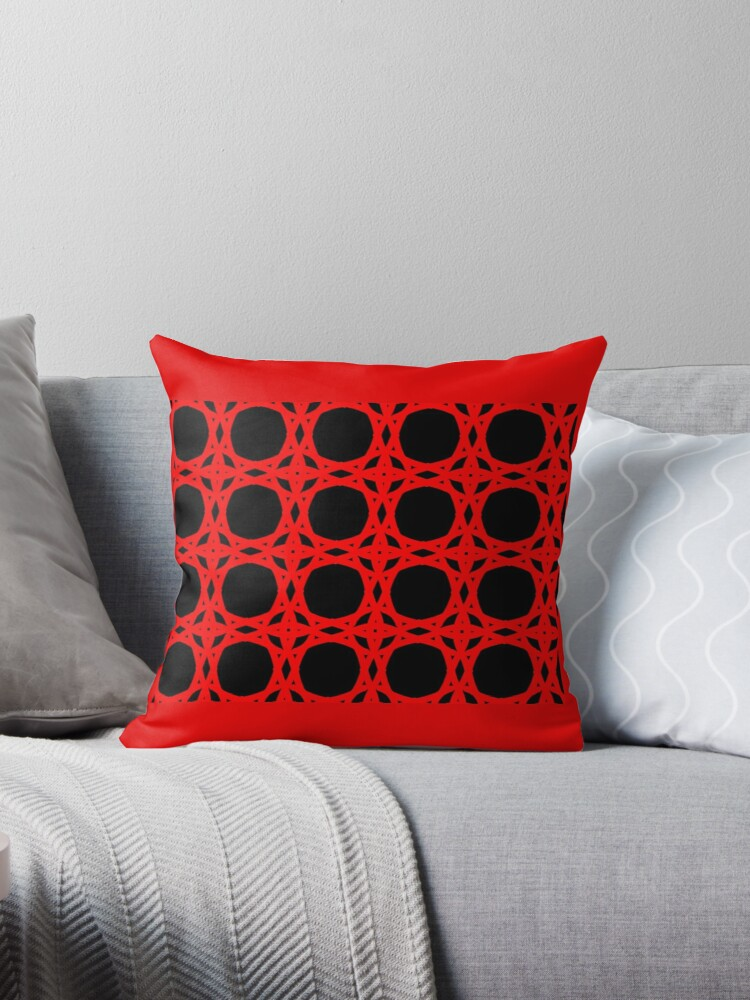 BOLD RED and BLACK, GEOMETRIC DESIGN, GIFTS and DECOR by ackelly4