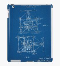1928 Nikola Tesla Helicopter Pateent Blueprint iPad Case/Skin