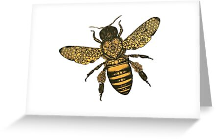 Aureum bee greeting cards by expressiveart redbubble aureum bee by expressiveart m4hsunfo