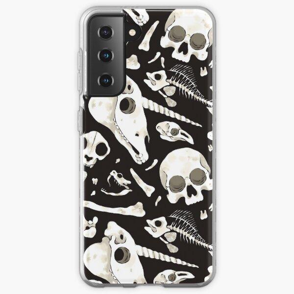 black Skulls and Bones - Wunderkammer Samsung Galaxy Soft Case