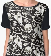 black Skulls and Bones - Wunderkammer Chiffon Top