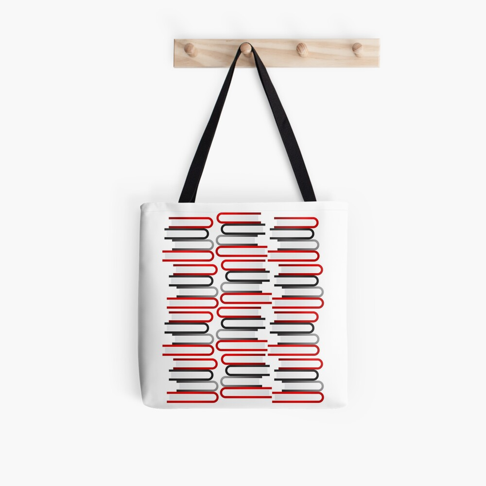 Abstract Book Stacks Tote Bag