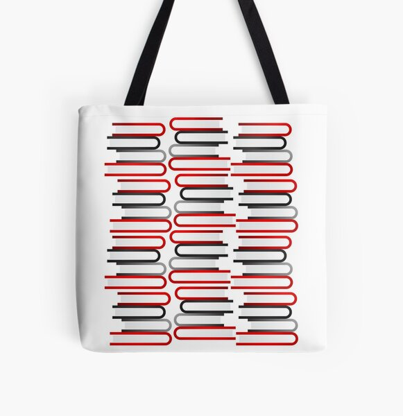 Abstract Book Stacks All Over Print Tote Bag